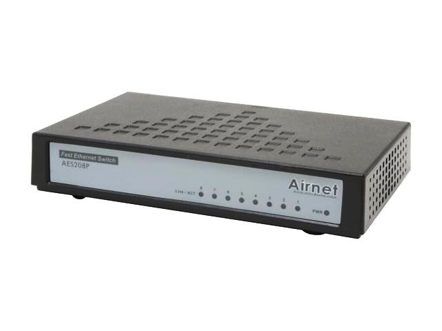 Airnet 8 Ports 10/100Mbps Fast Ethernet Switch