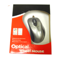 Optical Wheel Mouse PS/2 Silver