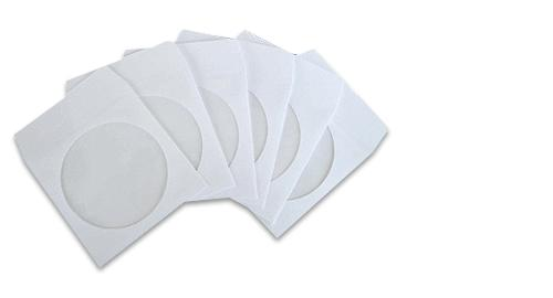 100 pcs Paper Sleeves for CD and DVD Disks